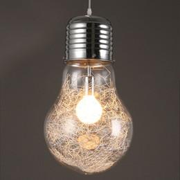 grande suspension a conduit Promotion Big Bulb Light Simple Suspension Luminaire Bulb Pendant Light Dia 15/25 / 30cm Suspension Lait Blanc Couleur E27 Ampoule