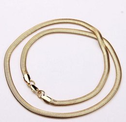 Wholesale Cheap Pendants For Men - 18k gold plated flat snake chain necklace for men fashion luxury jewelry drop shipping oem cheap 22inch man necklace wholesale