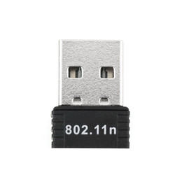 Wholesale Wifi Antenna Cable Usb - Mini PC wifi adapter 150M USB WiFi antenna Wireless Computer Network Card 802.11n g b LAN