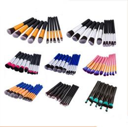 Wholesale Mini Makeup Brushes - 10pcs set Mini Makeup Brushes Foundation Blending Blush Make up Brush Cosmetics Beauty tool Kit Set DHL Wholesale