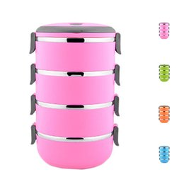Wholesale Lunch Storage - S5Q Multilayer Stainless Steel Circular Thermal Lunch Box Bento Storage Mess Tin AAAGGU