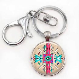 Wholesale Men Pendant Tribal - Tribal Key Chains BoHo Jewelry Key Rings Wearable Art Jewelry Tribal Pendant Native American Jewelry 2017 New Year Gift