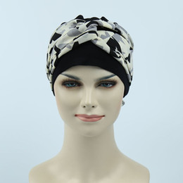 Wholesale Novelty Material - 2017 popular wig accessory breast cancer women soft jersey material chemo bandana scarf bamboo turban caps