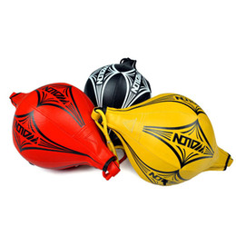 Wholesale Boxing Speed Ball Bag - Vertical Boxing Bouncing Speed Ball Vent UFC Boxing Reaction Elastic Ball Hanging MMA Boxing Sandbag Punching Bag Training Red Black Yellow