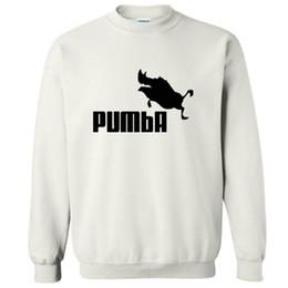c2cf4304a325 Große Größe Top-Qualität Baumwollmischung Männer Crewneck Sweatshirt lässig  coole Mode PUMBA Druck Herren Hooides und Sweatshirts 2017