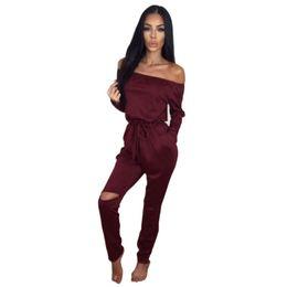 Wholesale Women Jumpsuit Wholesale - Wholesale- Sexy Women Ladies Summer Clubwear Playsuit Party Jumpsuit Romper Long Trousers Yo