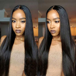 Wholesale Silky Top Full Lace Wigs - customize 28inch glueless silk top full lace wigs virgin brazilian silky straight human hair natural color 150% density