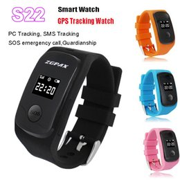 Wholesale Kids Tracking Watches - Wholesale- ZGPAX S22 Smart Watch support SIM SOS GPS SMS Tracking remote monitor Smart Watch for Android IOS for children kids wrist watch