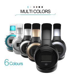 Wholesale Bluetooth Micro Earphone Cell - ZEALOT B19 LCD Display HiFi bass Wireless Bluetooth Headphone for iPhone 7 samung xiaomi earphone With FM Radio Micro-SD Slot