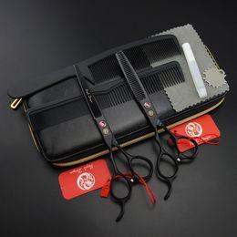 Ciseaux de cheveux professionnels en gros de 6 pouces pour gaucher, amincissement droit, cisailles de coiffeur, JP440C, 62HRC, S500 ? partir de fabricateur