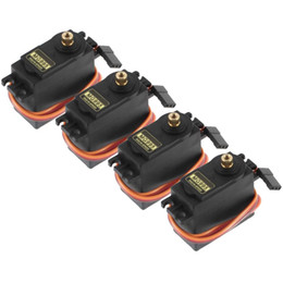 Wholesale helicopter gears - 4pcs MG995 55g Metal Gear Torque Digital Servo13KG for RC Helicopter Car Robot
