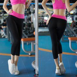 Wholesale Girls Bike Pants - woman Pro quick dry sportswear training clothing girls elastic compression short Yoga pants bike cycling running tights fitness