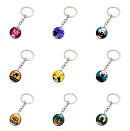 Wholesale Halloween Plastic Skeleton - New arrival Warrior Halloween Time Gemstone Glass Keychain Jewelry KR169 Keychains mix order 20 pieces a lot