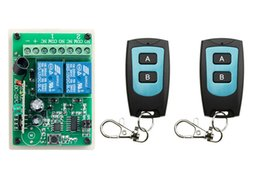 Wholesale learning garage remotes - Wholesale- DC 12V 2CH Learning Code Wireless Remote Control Switch System teleswitch 1* Receivers and 2*Transmitter applicance garage door