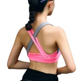 3d8eaed12a9d1 Fitness Gym Sport Bra Top Professional Yoga Bra Vest Women Sport Bra  ShankProof Seamless Running Push Up Padded Bras Underwear