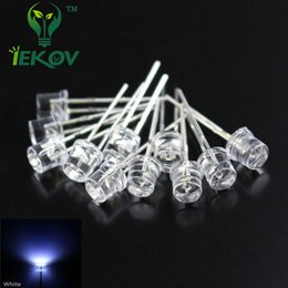 Wholesale Leds 12v 5mm - Wholesale- 100pcs LED 5MM Flat Top White leds Wide Angle diode +100 pcs 470 ohm resistor 12v F5MM Emitting Diodes Hot Sale