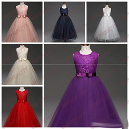 Wholesale Wholesale Cotton Frock For Kids - Children Clothing Girl Kids Clothes Embroidery Lace Flower Girls Dress For Wedding Events Party Baby Girl Birthday Dress Frocks Ceremonies