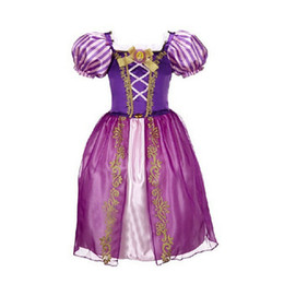 Wholesale Purple Children S Skirts - New printed girls dress long - haired princess skirt children 's clothing dress