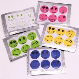 Wholesale Disposable Face - New Mosquito Repellent Patch Smiling Face Drive Midge Mosquito Killer Cartoon Anti Mosquito Repeller Sticker 6pcs set