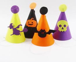 Pano havaí on-line-Brand new Halloween Enfeites De Feltro De Pano Crianças Hat Escola Do Jardim de Infância Decoração PM017 Chapéus Do Partido misturar a ordem como suas necessidades