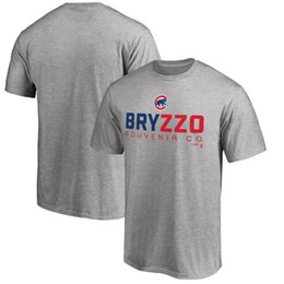 Wholesale T Shirts Number - Free Shipping Men's Cubs Royal Custom Roster Name & Number T-Shirt Threads Gray Granite Tri-Blend Crew grey