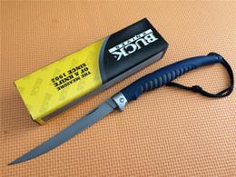 Wholesale Titanium Fishing - BUCK 110 Buck 220 folding fish knife (OEM OEM genuine) 420J2 (imported materials) titanium surface coating ABS (engineering plastics)