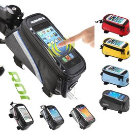 Wholesale Tube Holder Bicycle - BICYCLE BAGS CYCLING BIKE FRAME IPHONE BAGS HOLDER PANNIER MOBILE PHONE BAG CASE POUCH