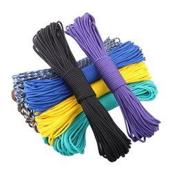 Wholesale Climbing Equipment Wholesale - Multi-colors Paracord 550 4mm dia. Paracord Parachute Cord Lanyard Rope Mil Spec Type III 7Strand 100FT Climbing Camping survival equipment