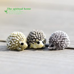 Wholesale Wedding Figurines Gifts - Microlandschaft Mini Animal Hedgehog Figurine Fairy Landscape Ecology Scenery Props Miniature Resin Craft Bonsai Tools Moss 0 6cj C