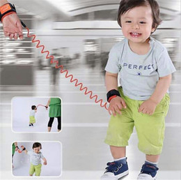 Wholesale Braclet Links - Children Kids Safety Wristband safety leashes Anti-lost Wrist Link Band Baby Toddler Harness Leash Strap Adjustable Braclet Parent Baby Game