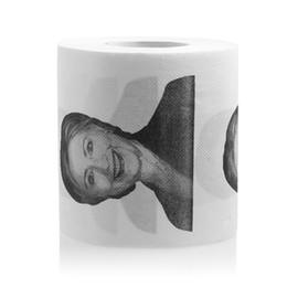 Wholesale Paper Sheet Roll - Wholesale- 1Pc Hillary Clinton Smile Toilet Paper Roll Gag Prank Joke Gift 2 Ply 240 Sheet