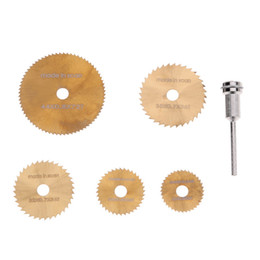 Wholesale Metal Stamping Part - 6pcs set HSS Mini Tool Circular Saw Blades For Metal Wood Cutting Rotary Cutter Power Tools Cutting Discs Wheel + Mandrel
