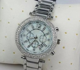Wholesale 39 Mm Rhinestone - Luxury Famous Designer Women Rhinestone watches fashion luxury Brand Dress Michael ladies watch for Free Shipping 056