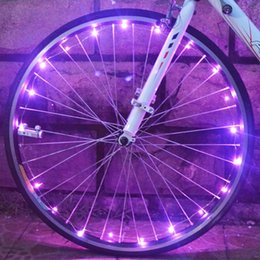 Wholesale Safety Leds - New Arrival Bicycle Cycling Colorful Cool 20 LEDs Safety Spoke Wheel Light Bike Accessories Waterproof Bicycle Decoration Light HOT +TB