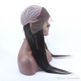 Wholesale Hair Band For Wigs - Best quality Natural Color Lace Front Elastic Band Brazilian Human Hair Glueless Straight 360 Lace Frontal with Baby Hair for Black Women
