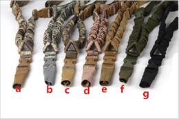 Sangle américaine tactique Sling Single Point Single Sangle réglable pour élingues de fusil pour arme à feu Sangle Système de sangle Sling tactique CS Sling Gun ? partir de fabricateur
