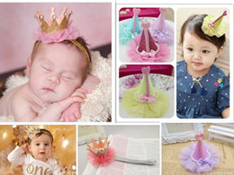 Wholesale Ornaments For Hair - Kids Girl Flower Princess Crown Headband Elastics Headbands For Newborns Hair Accessories Kids Birthday Partyhair Head Band Ornaments Hairb