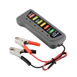 Wholesale Isuzu Led - Free Shipping hot sell test tools EL-TT001 6-LED display 12V LED battery tester car battery car   battery portable detector