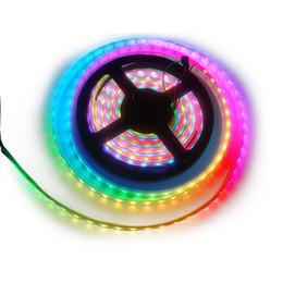 Wholesale Home Leds - S5Q WS2812B 5050 Soft RGB LED Strip 5M 150 300 Leds 144 60LED M Home Decoration AAAGOD