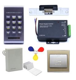 Wholesale Electric Strike Door Lock - 125Khz RFID Access Control ID Password Safty Entry System Door Lock Electric Strike Set