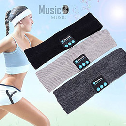 Wholesale Music Gift Wrap Wholesale - Bluetooth Music Sport Headband Stereo Wireless Headset Men Women Sports Running Fitness Yoga Stretch Head Wrap Caps Christmas Gift