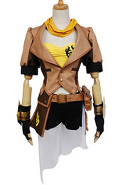 Canada Kukucos Anime Halloween RWBY Jaune Remorque Yang Xiao Longue Fête Dress Up Cosplay Costume Veste Complète Bataille Costume Offre
