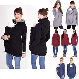 Wholesale Pregnancy Coat - Baby Carrier Jacket Kangaroo Outerwear Hoodies Warm Cotton Women's Maternity Carrier Baby Holder Jackets Outwear Pregnancy Coat MC0553