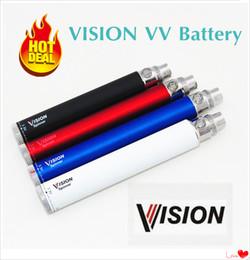 Wholesale Usb Electronic Cigar - 510 Vape Pen Vision Spinner 650 900 1100 1300 mah Electronic Cigarettes cigar Ego Twist 3.3V-4.8V Variable Voltage E cigs + eGo USB Charger