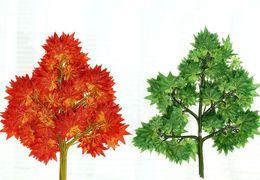 2019 seidenrot ahorn künstliche rote Ahornblätter 5 Zweige Ahornblatt Grüne Pflanze Schmuck Seide Blume rabatt seidenrot ahorn