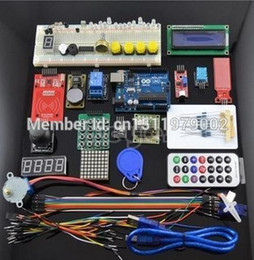 Wholesale Metal Stepper Motor - Wholesale- UNO R3 KIT Upgraded version for Arduino Starter Kit RFID Learn Suite Stepper Motor + ULN2003 Free Shipping 1 set