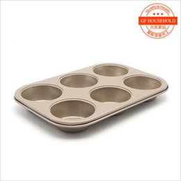 Wholesale Wholesale Bread Loaf Pans - Wholesale- Pan Muffin Cupcake Bake Cake Mould Mold Bakeware 6 Cups Dishwasher Safe Versatile SturdyBaking Oven FDA-grade non-stick coating