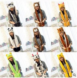 Newest Cartoon Hat Scarves Gloves Multifunction Keep Warm Supplies for Kids  and Adult Cute Animal Scarf Cap Hot Sale 63bd1f836c04