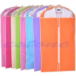 Wholesale door skirt - Wholesale- New Clothes Dress Garment Suit Cover Bag Dustproof Jacket Skirt Storage Protector color random