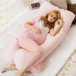 Wholesale Pregnant Pillows - Wholesale- Pregnancy Pillows 80x140cm Comfortable Body Pillow Pregnant Women Best For Side Sleepers Removable